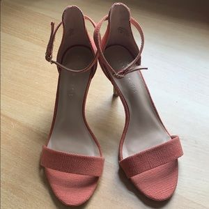 Pink Strappy Open Toe Ankle Strap Heels 7.5